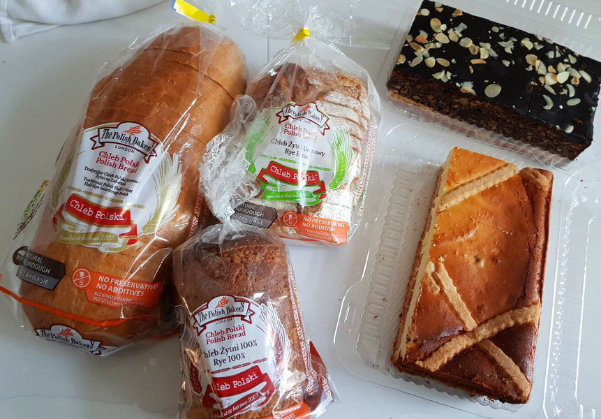 Polish bakery goodies