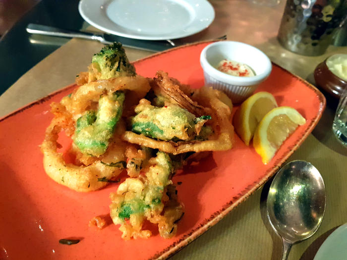 TraTra Shoreditch review - tempura veg