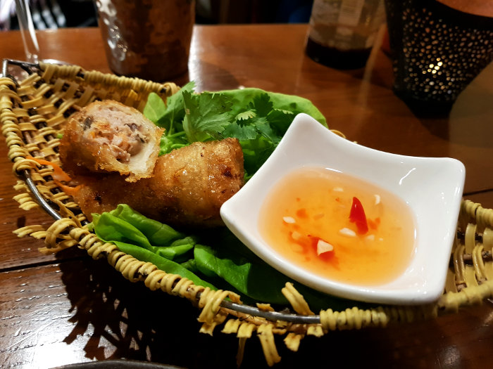 pho bun pork crab spring roll
